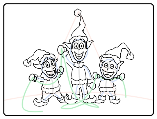 toothless coloring pages - how to draw cartoon elves step by step