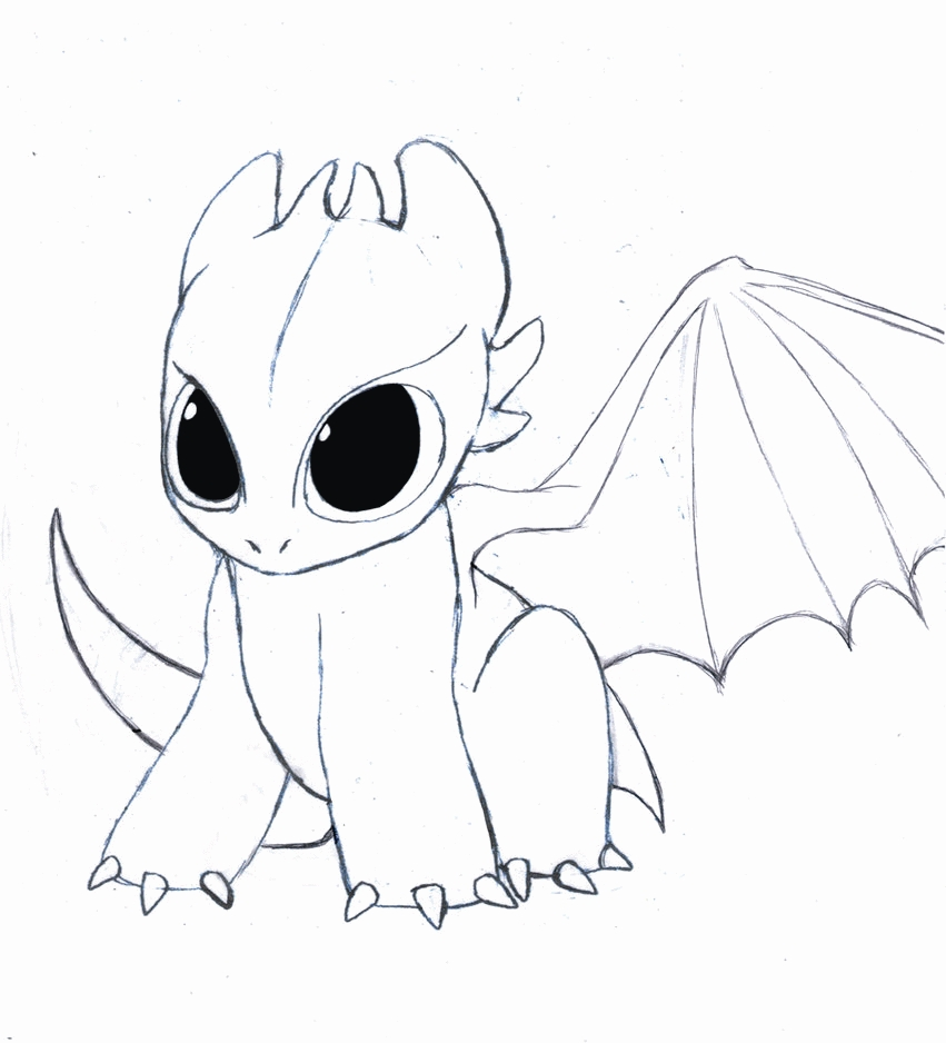 Coloring pages of cute baby dragons - a-k-b.info