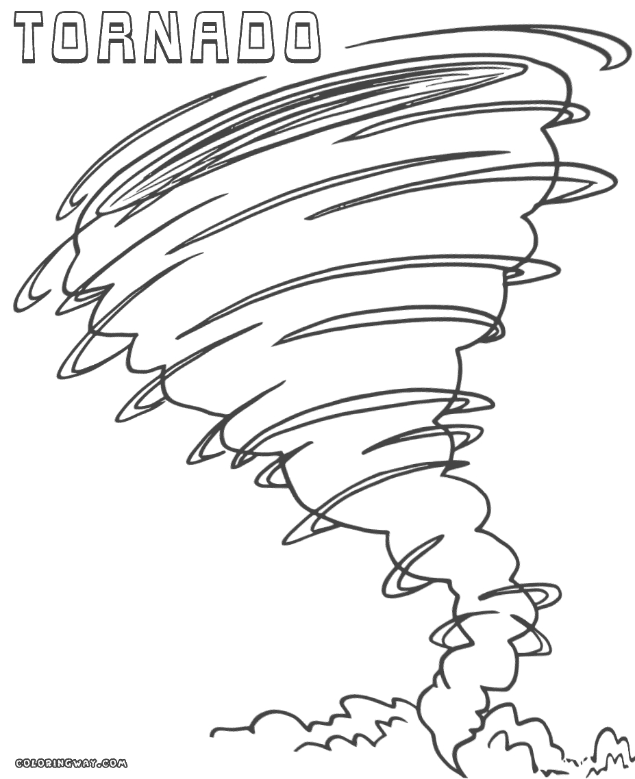 Tornado Coloring Pages - tornado Coloring Pages