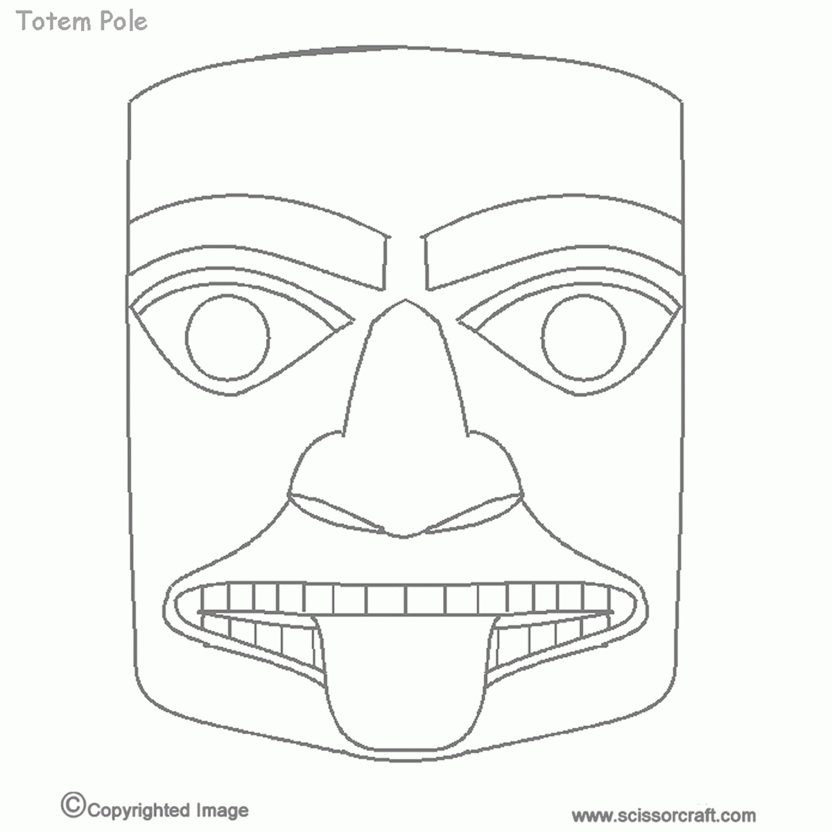 totem pole coloring pages - coloring pages of totem poles