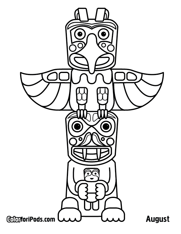 totem pole coloring pages - free coloring pages