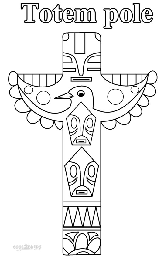 totem pole coloring pages - lion totem pole coloring page sketch templates