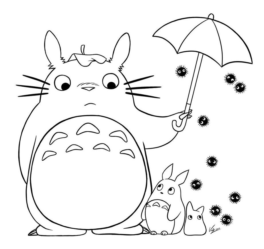totoro coloring page -