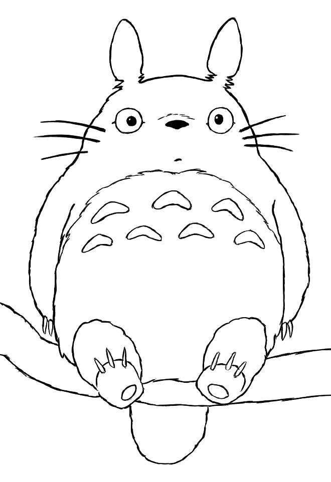totoro coloring page - totoro coloring pages