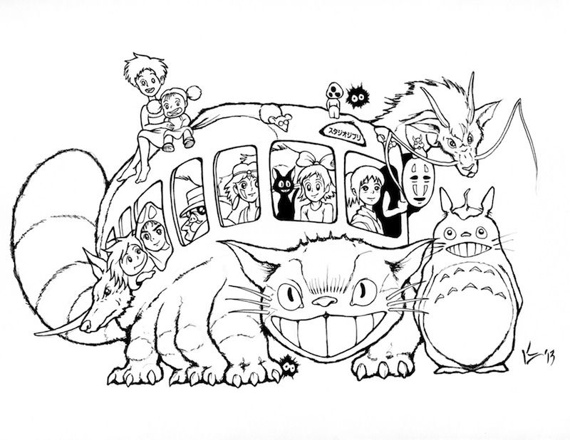 Totoro Coloring Page - totoro Coloring Pages Coloring Home