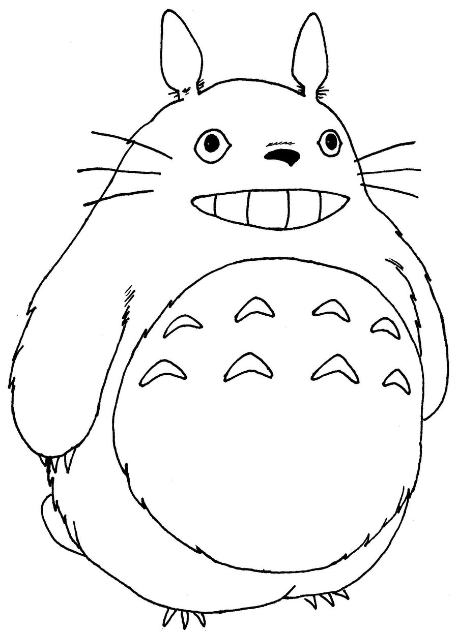 totoro coloring page - totoro coloring pages google sketch templates