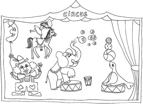 toucan coloring page - drawing circus shows coloring page