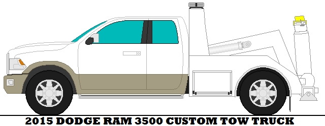 tow truck coloring pages - 2015 Dodge Ram 3500 Custom Tow Truck