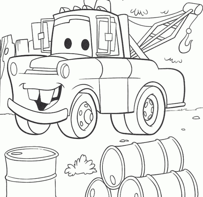 tow truck coloring pages - tow mater coloring pages free
