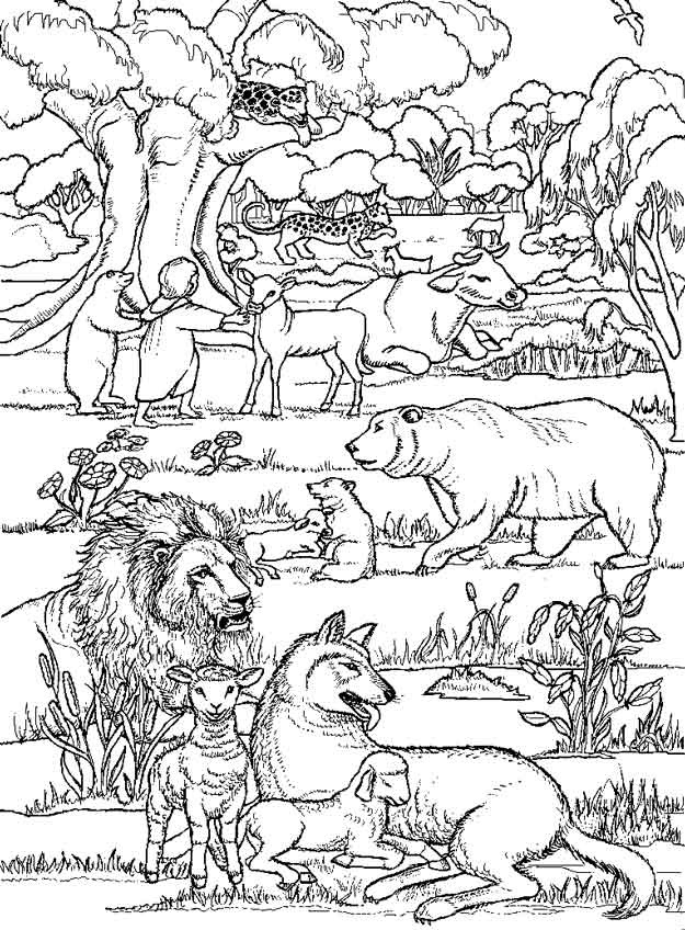 tower of babel coloring page - alle ren leven samen