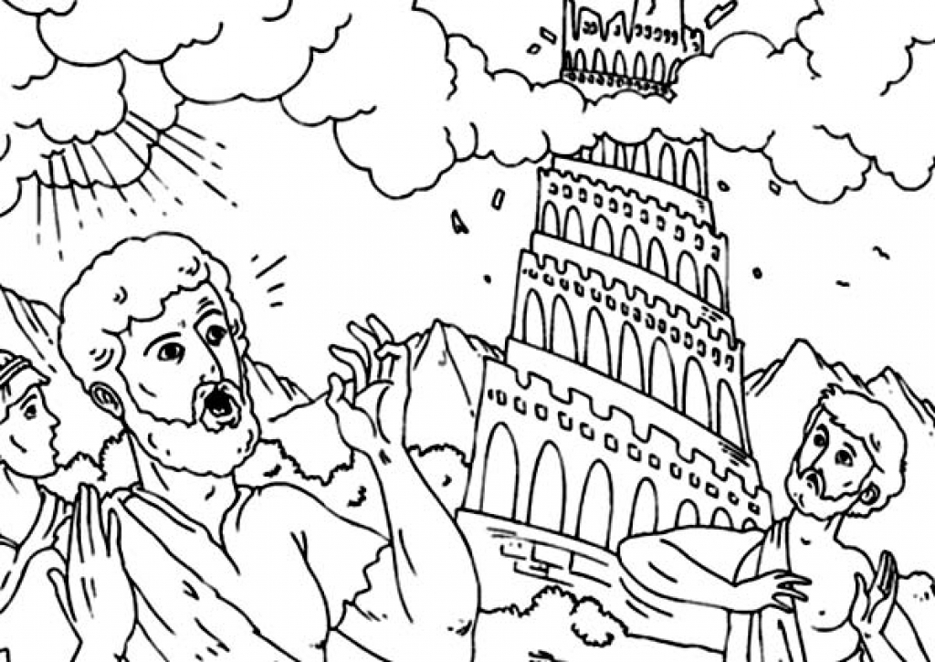 tower of babel coloring page - tower of babel coloring page
