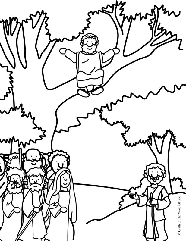 tower of babel coloring page - zacchaeus e down coloring page