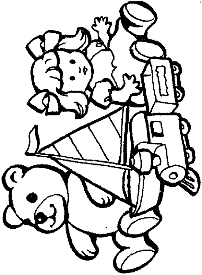 Toys Coloring Pages - Kids N Fun