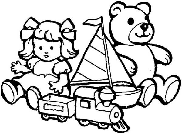 toys coloring pages - toys for little kids coloring pages