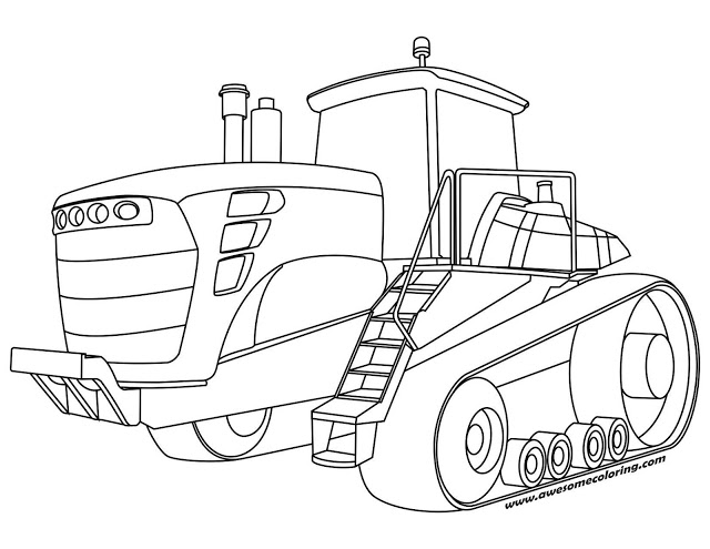 tractor coloring pages -