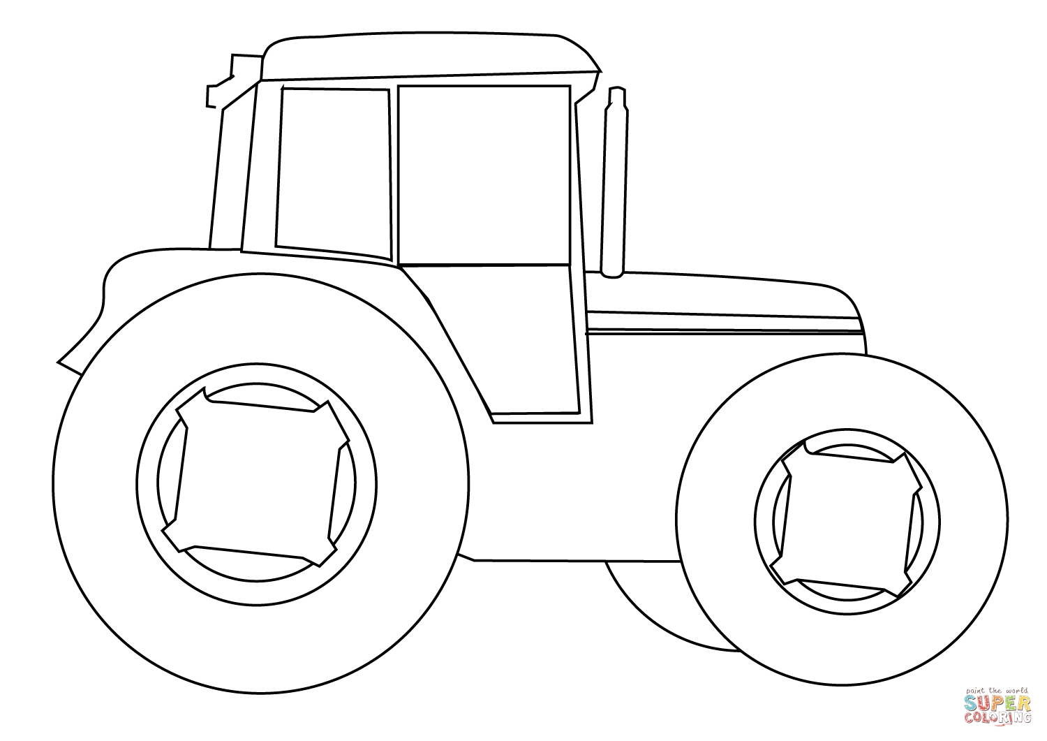 tractor coloring pages - farm tractor version=print