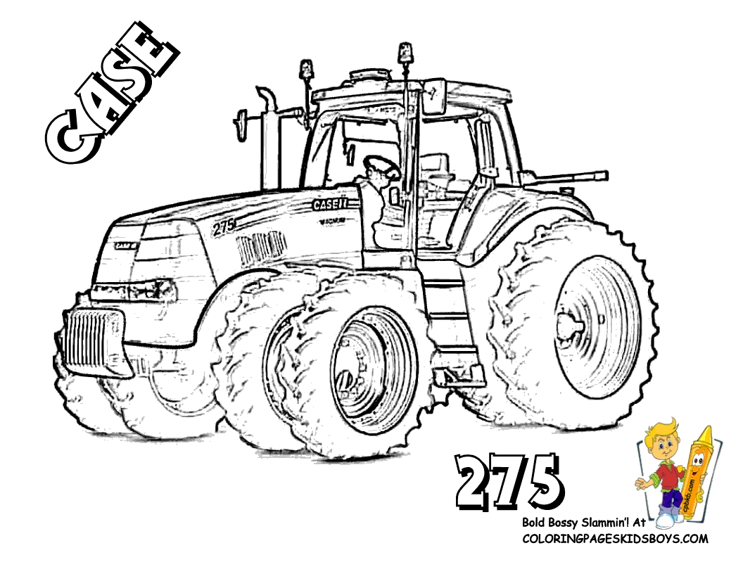 tractor coloring pages - free tractor coloring