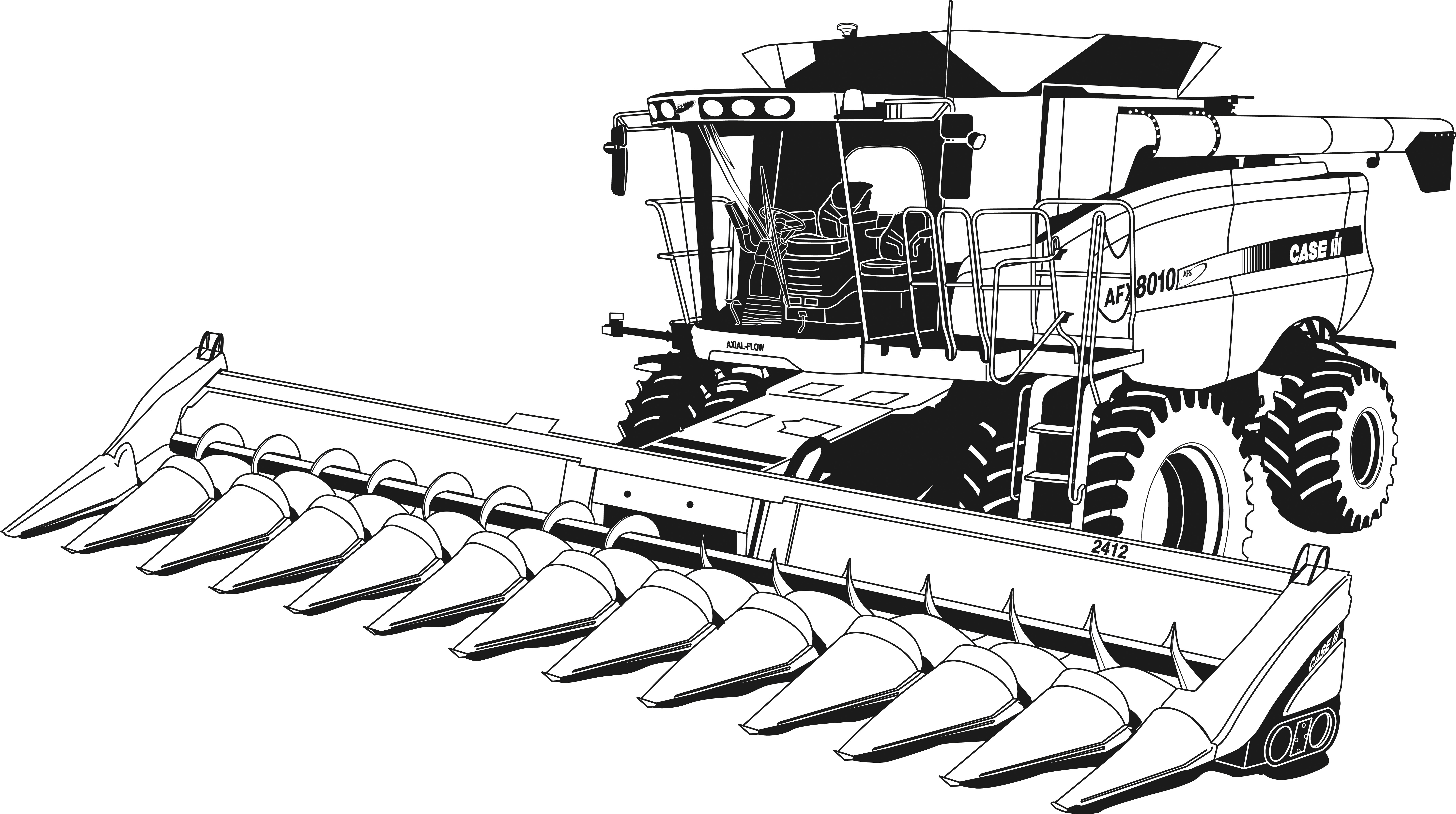 tractor coloring pages - free coloring media