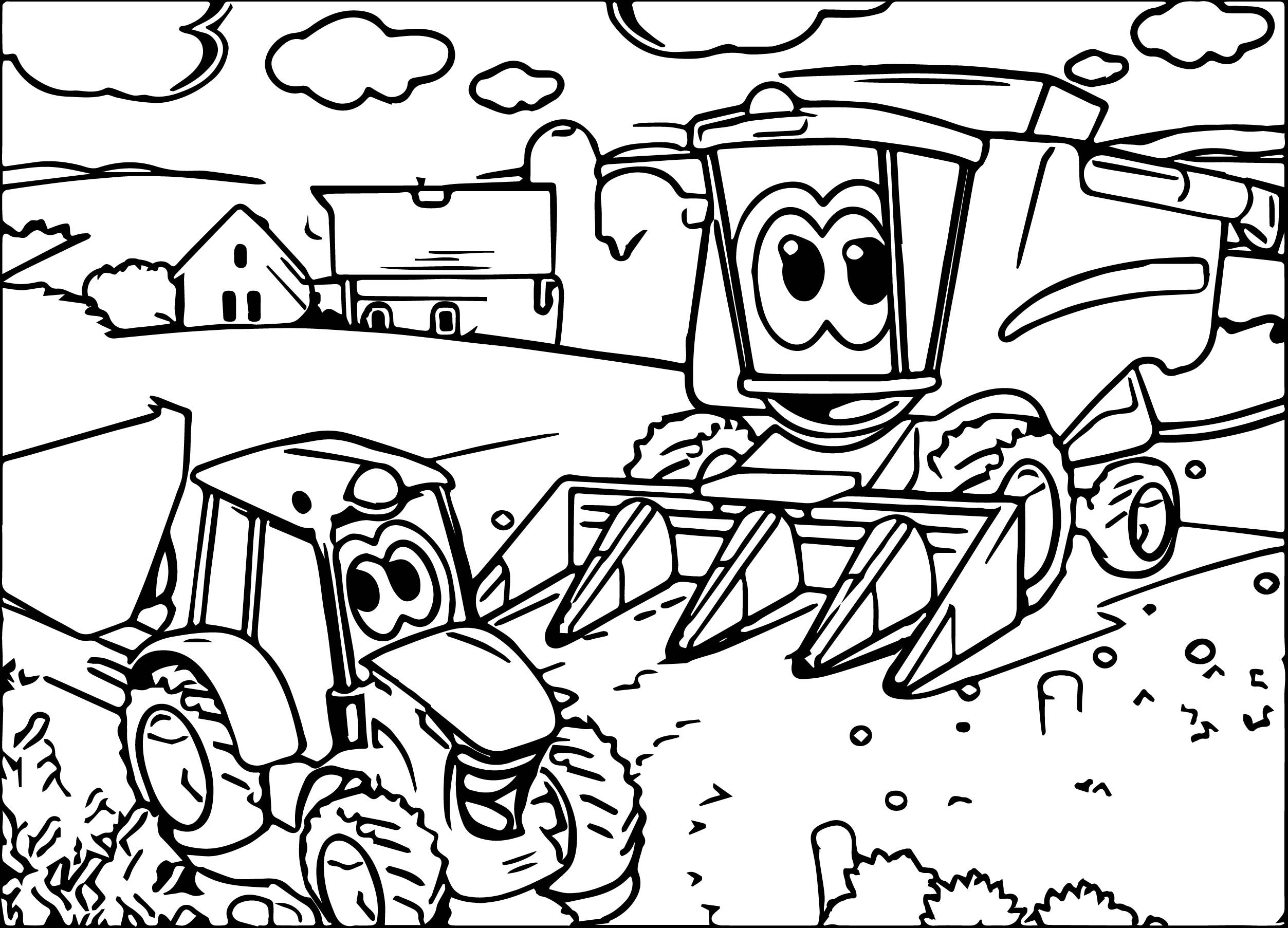 tractor coloring pages - john deere excavator coloring pages christmas 18