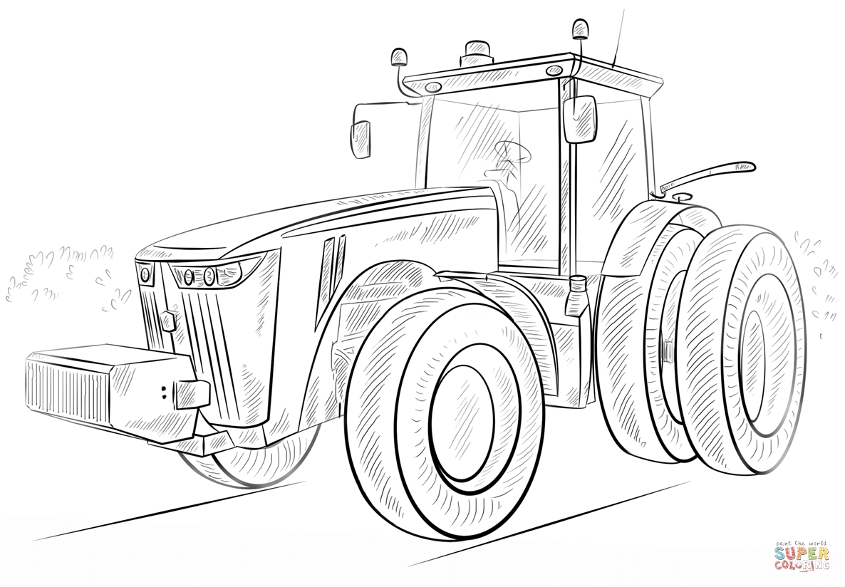 tractor coloring pages - john deer tractor