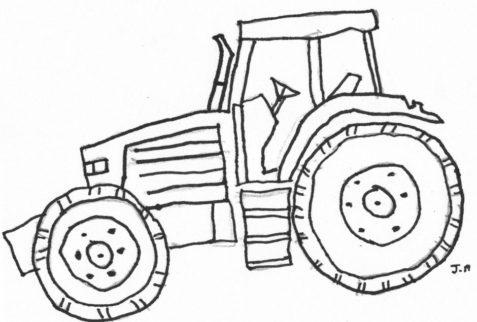 tractor coloring pages - john deere tractor coloring pages
