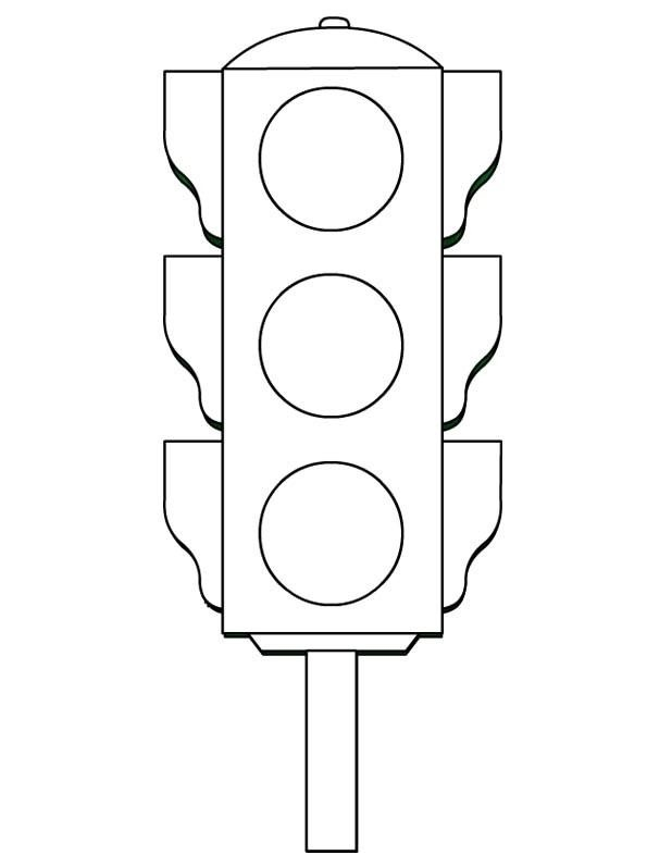 traffic light coloring page - traffic light coloring worksheets kids 5