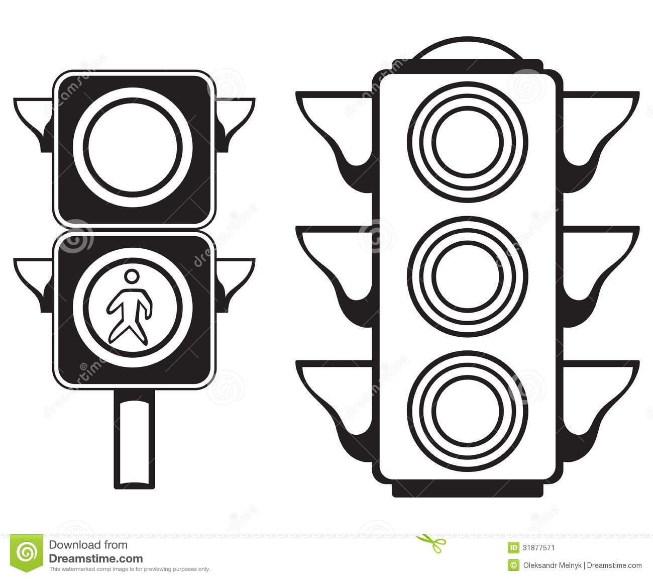 traffic light coloring page - stock image traffic light isolated white background image