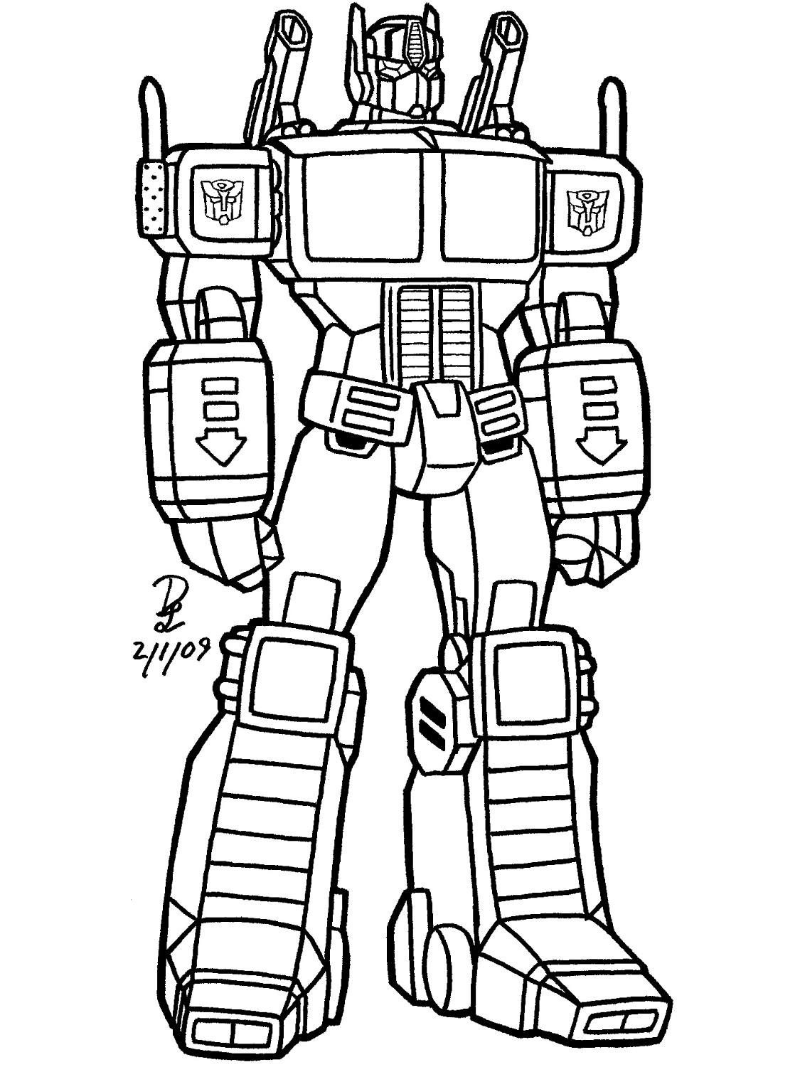 transformer coloring pages optimus prime - 6