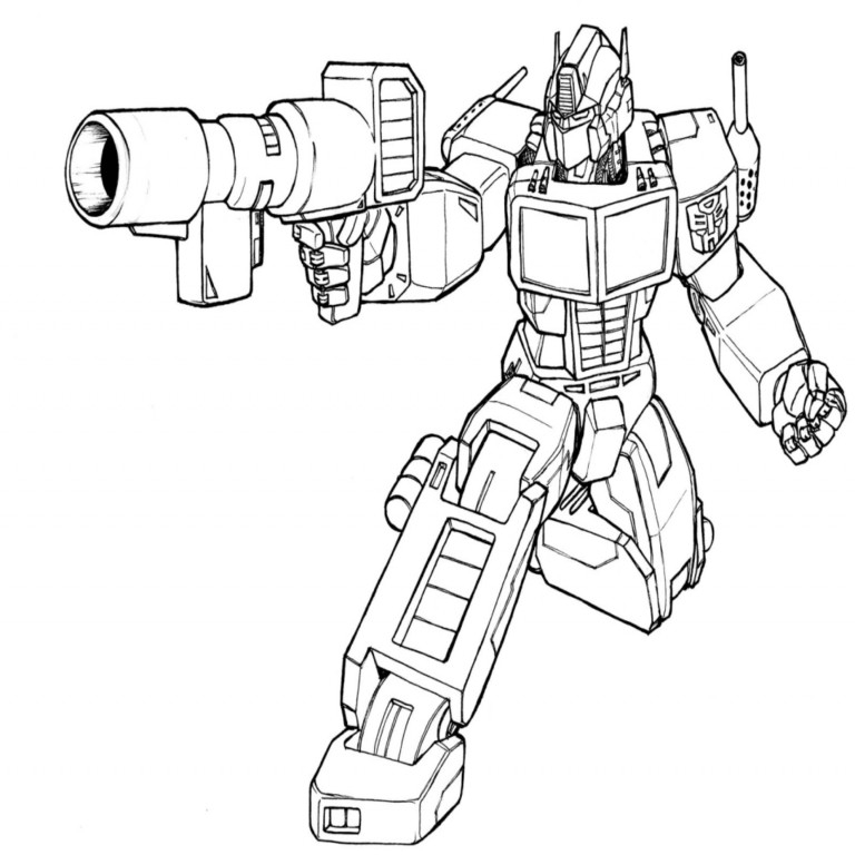 27 Transformer Coloring Pages Optimus Prime Collections Free