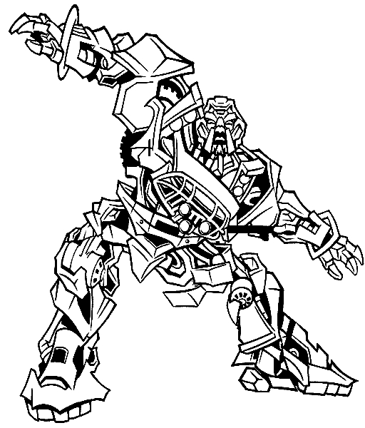 Transformer Coloring Pages Optimus Prime - Transformers