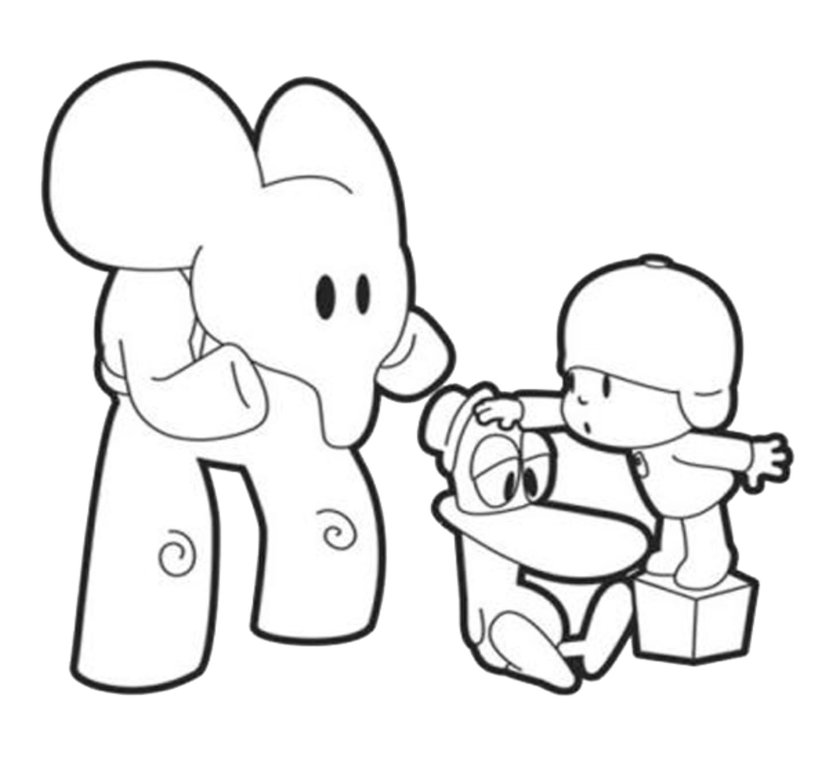 transformers coloring pages free - pocoyo coloring pages