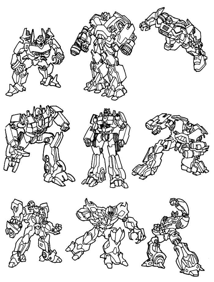transformers coloring pages - transformers