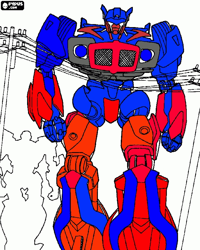 transformers printable coloring pages - coloring page transformer