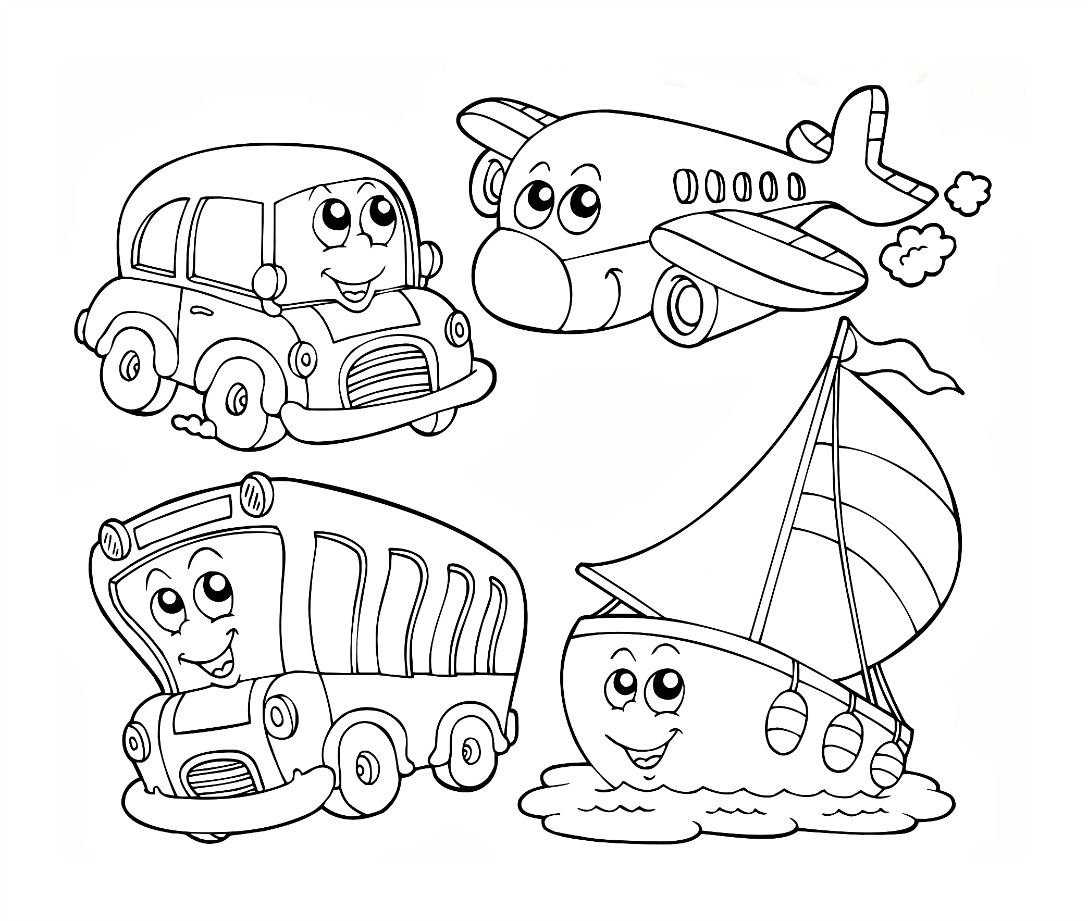 transportation coloring pages - 65