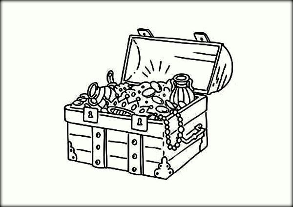 21 Treasure Chest Coloring Page Printable | FREE COLORING PAGES - Part 2