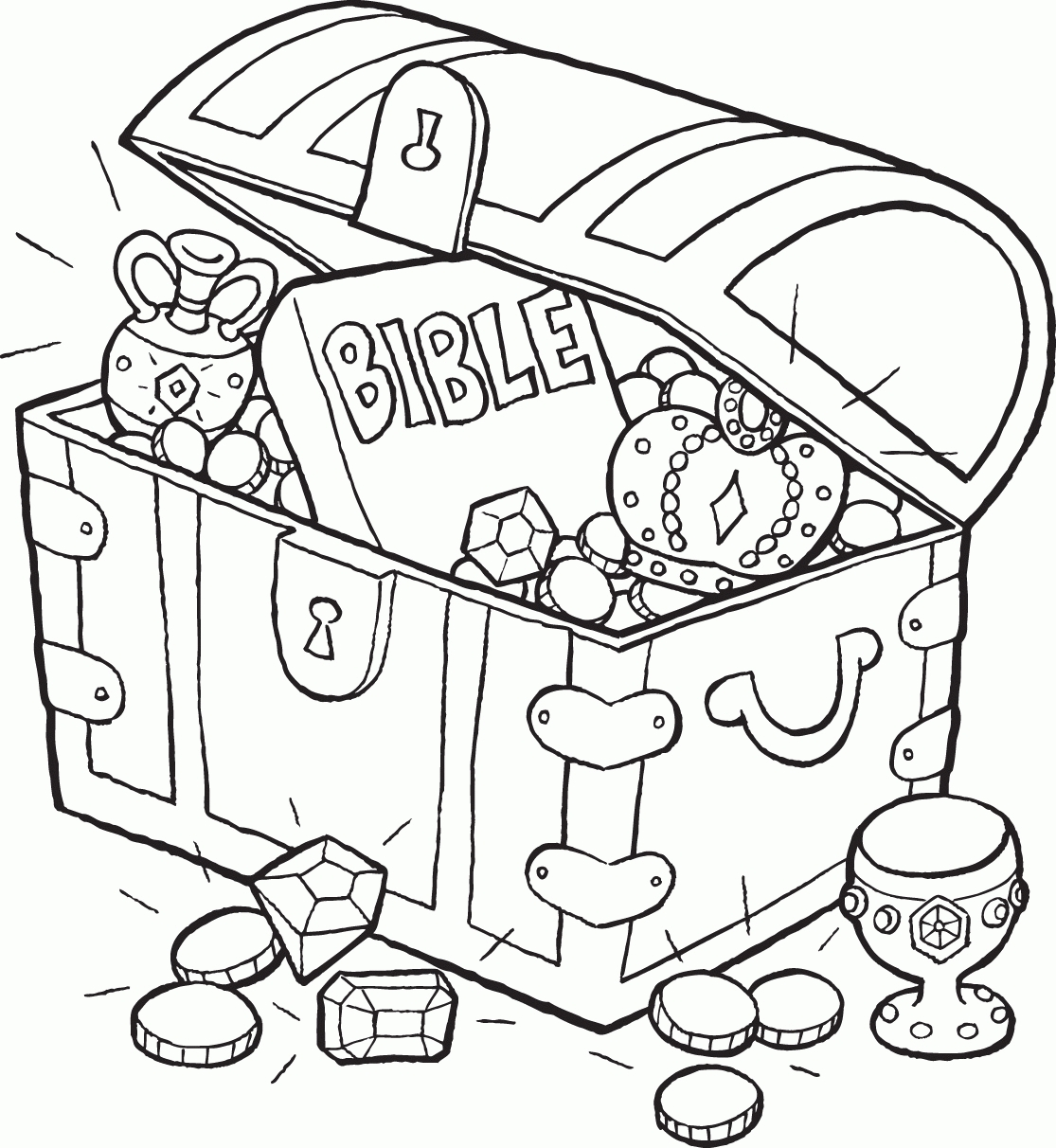 21 Treasure Chest Coloring Page Printable | FREE COLORING PAGES - Part 3