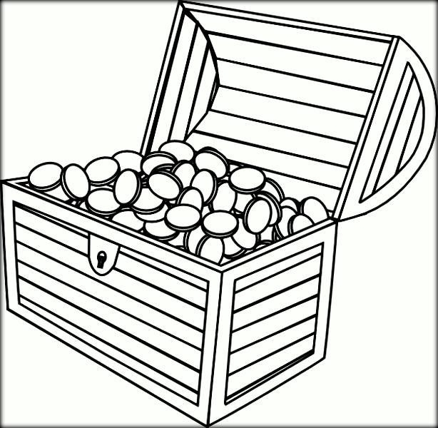 picture about Printable Treasure Chests called 21 Treasure Upper body Coloring Webpage Printable Absolutely free COLORING Internet pages