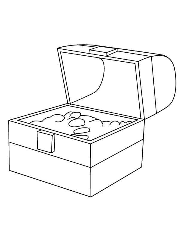 treasure chest coloring page - treasure chest coloring page