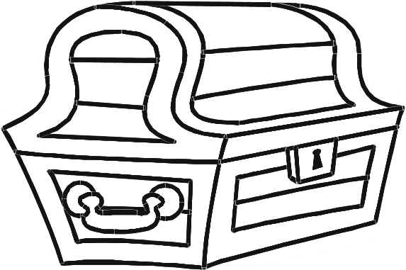 treasure chest coloring page - treasure chest