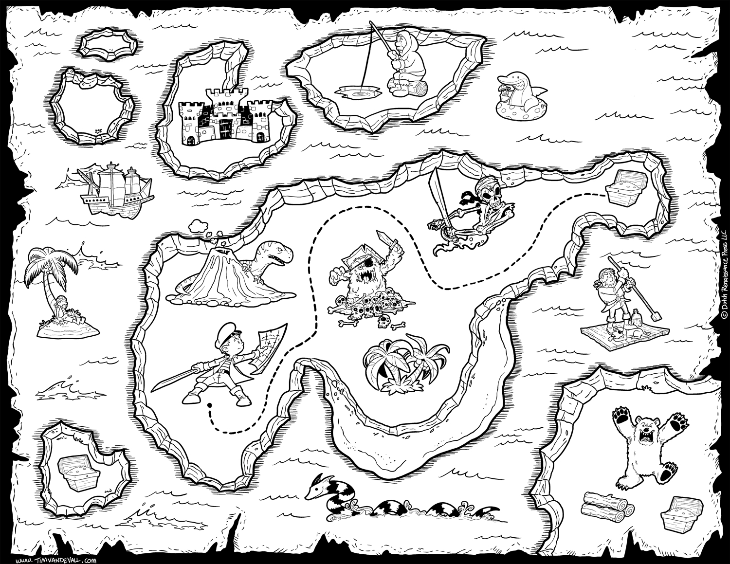 treasure map coloring pages - q=treasure map maze