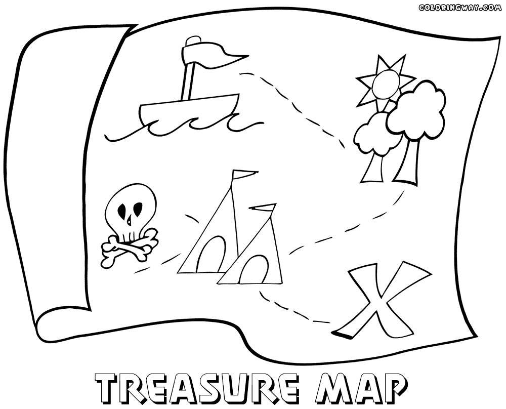 28 Treasure Map Coloring Pages Pictures | FREE COLORING PAGES - Part 3