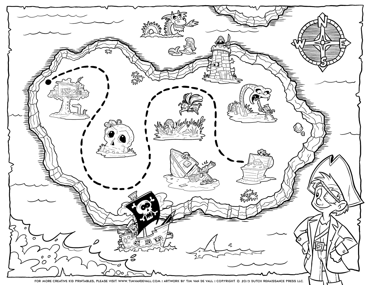 treasure map coloring pages - search sbox=treasure maps