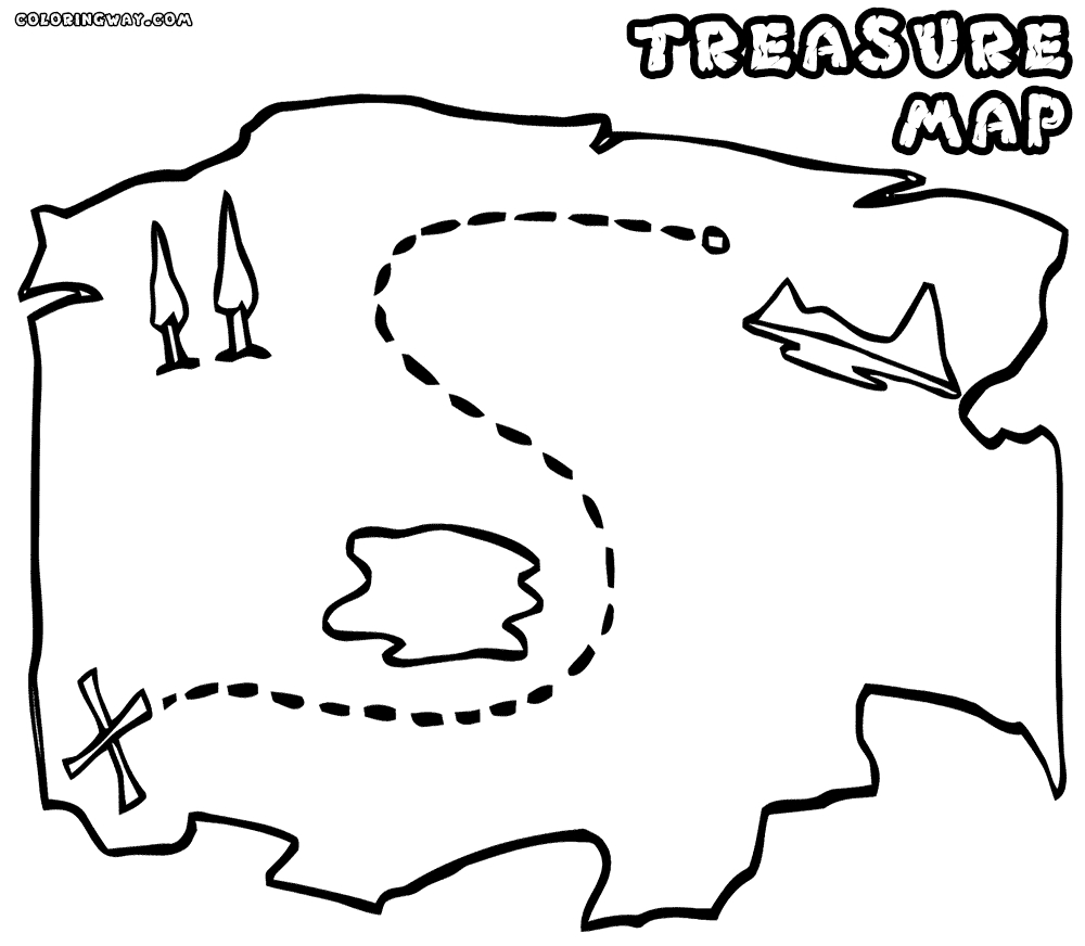 treasure map coloring pages - treasure map coloring pages