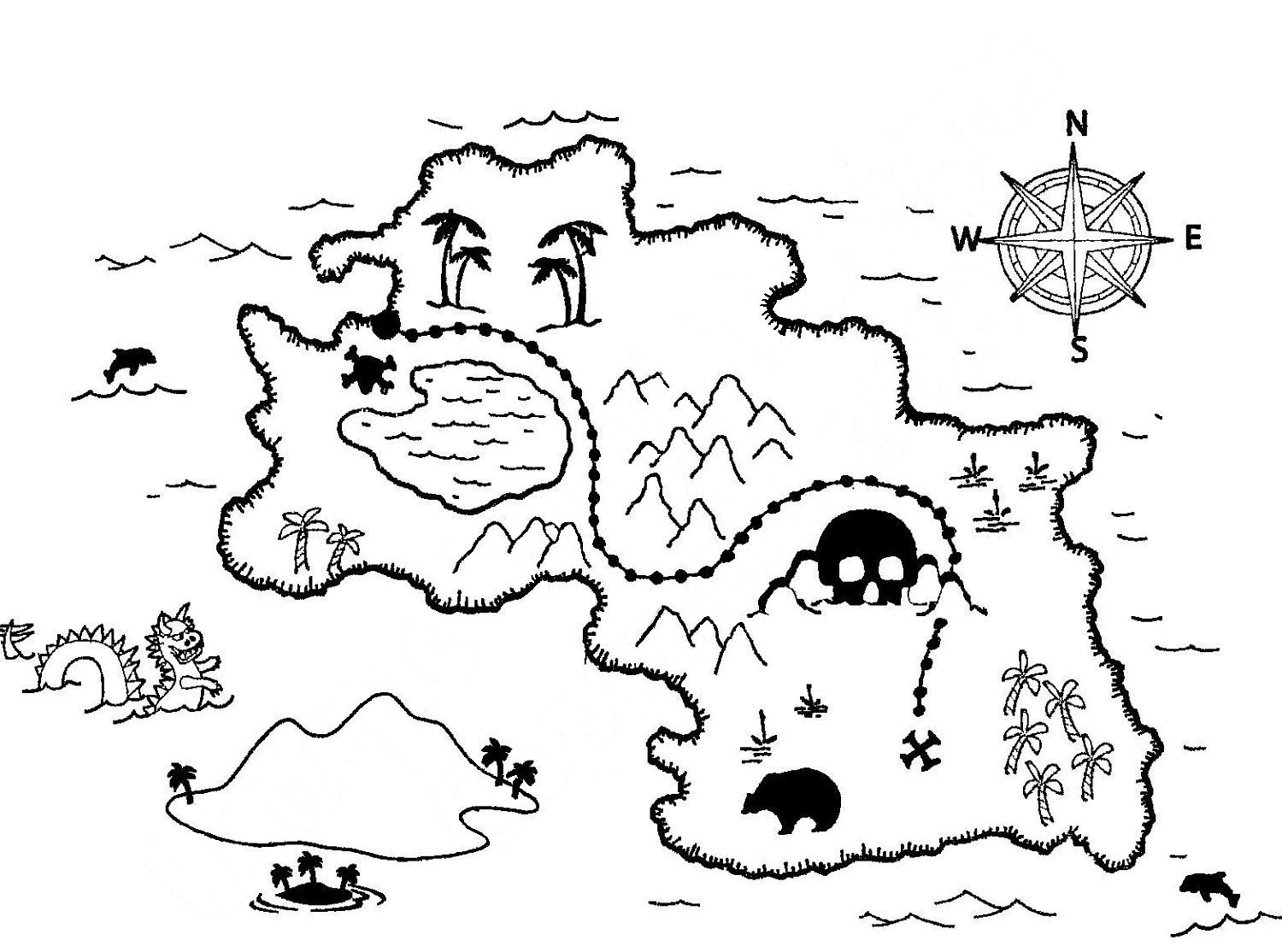 treasure map coloring pages -