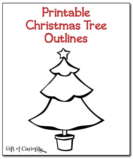 tree coloring pages - christmas tree outlines