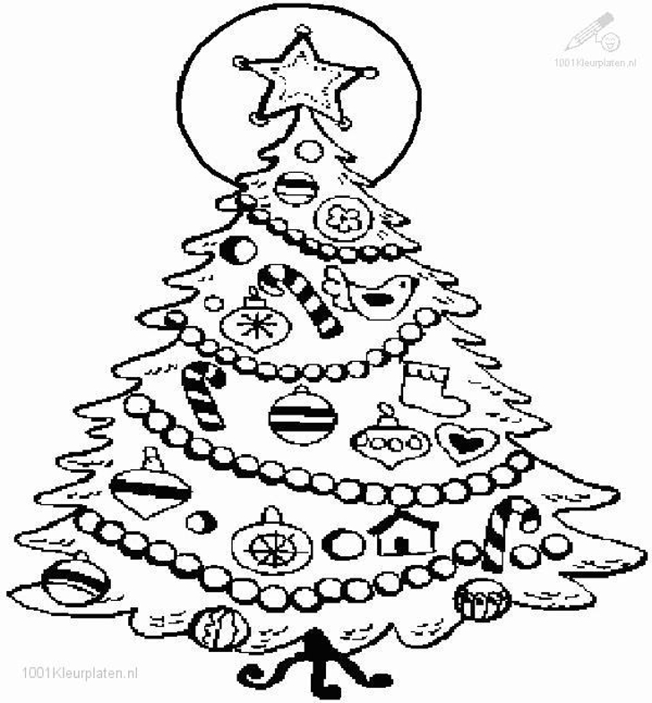 tree coloring pages - christmas tree pictures to color