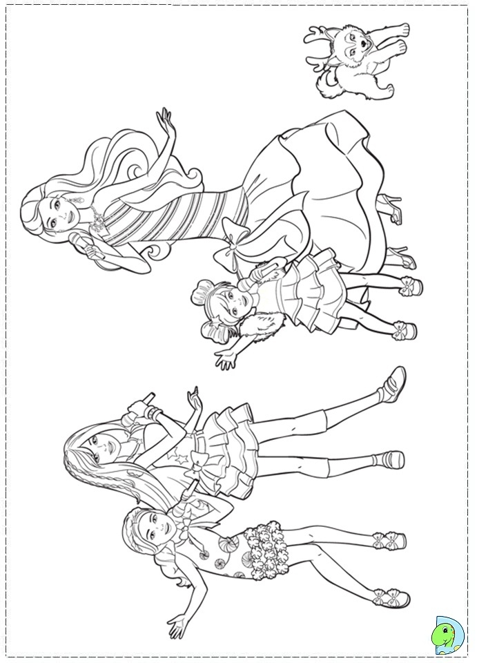 tree house coloring pages - barbie christmas coloring pages