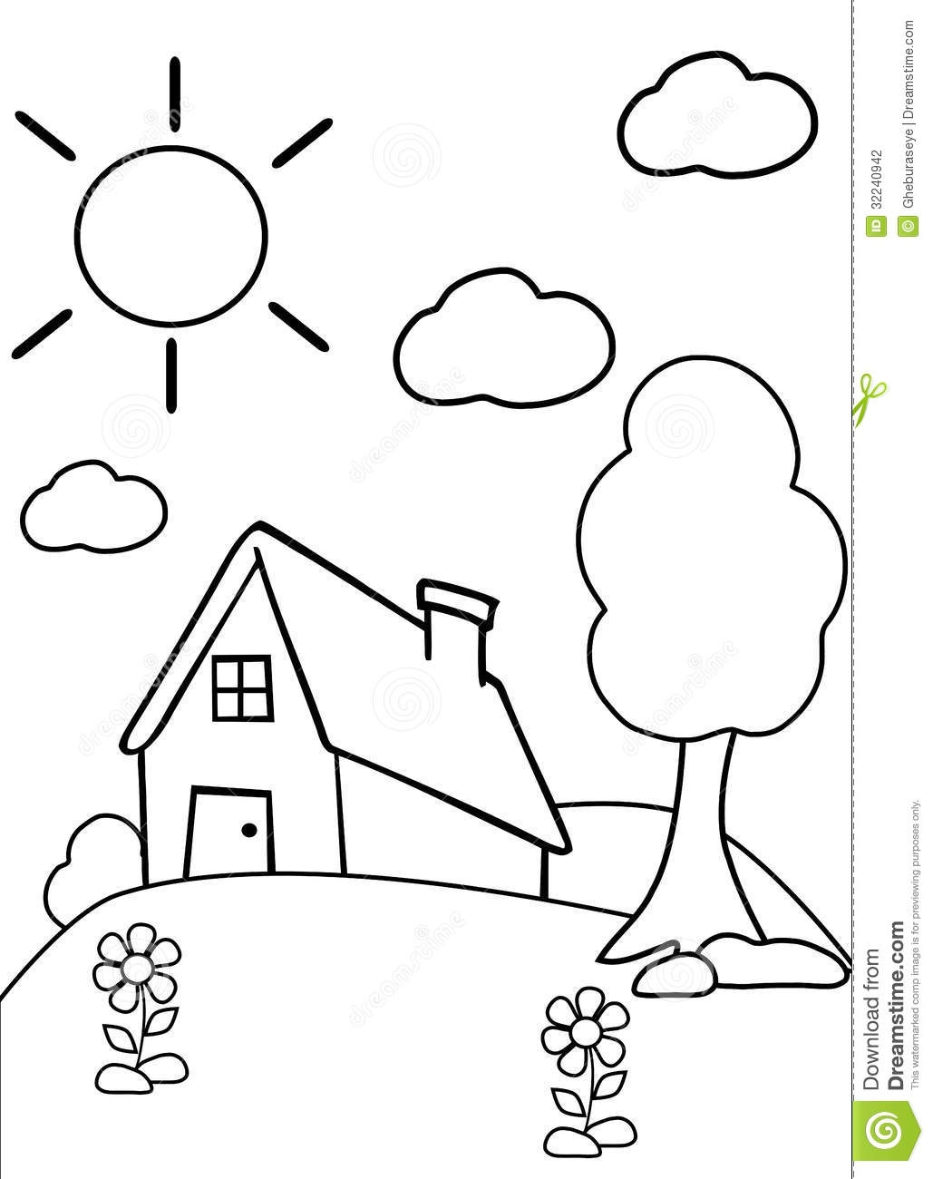 tree house coloring pages - stock photography color house illustration children who can colors like most learning to stay margins image