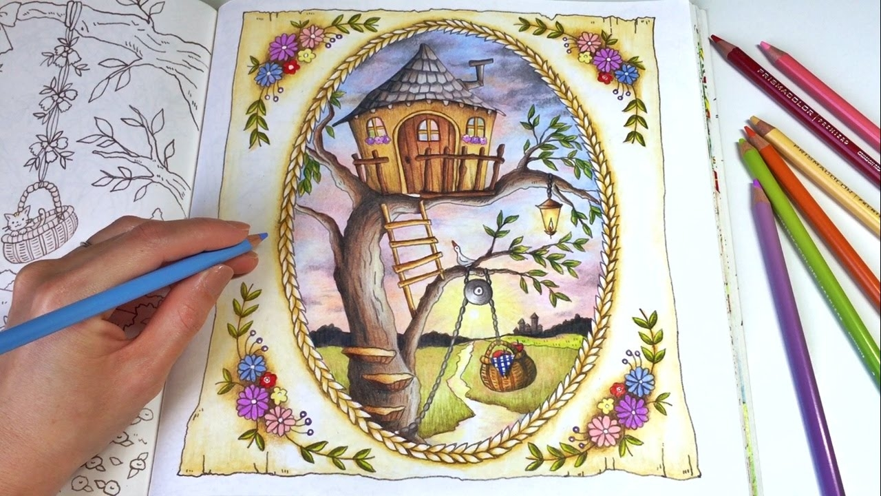 tree house coloring pages - watch v=YRpBFiYSGy0