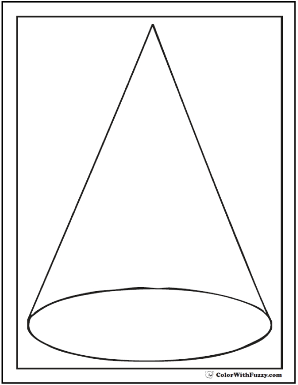 triangle coloring page - shape coloring pages